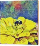 Let It Bee Wood Print