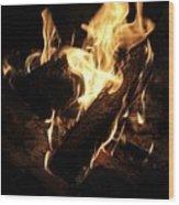 Let It Burn Wood Print