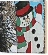 Let It Snow - Happy Holidays Wood Print