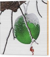 Let It Snow Christmas Ornament Wood Print