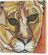 Let The Lioness Arise Wood Print