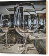 Let The Wine Tasting Begin Wood Print by Julie Palencia