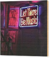 Let There Be Music Wood Print