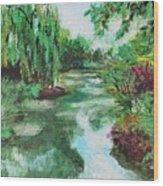 L'etang De Claude Monet, Giverny, France Wood Print