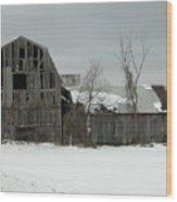 Letchworth Barn 0077b Wood Print