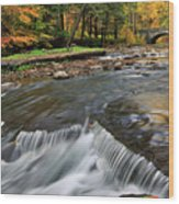 Letchworth Falls Sp Wolfe Creek Wood Print