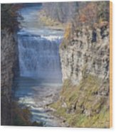 Letchworth Middle Falls Wood Print