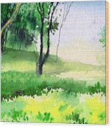 Let's Go For A Walk Wood Print