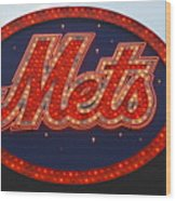 Lets Go Mets Wood Print by Richard Bryce and Family