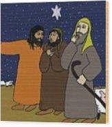 Let's Go To Bethlehem Wood Print