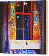 Let's Go To Luckenbach Texas Wood Print by Susanne Van Hulst