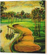 Let's Play Golf Wood Print