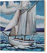 Let's Set Sail Wood Print