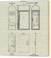 Letter Box 1887 Patent Art Wood Print