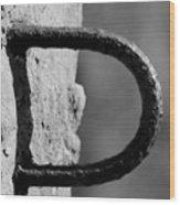 Letter D Wood Print