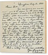 Letter From Abraham Lincoln To Alden Wood Print