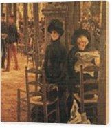 Letter L With Hats Jacques Joseph Tissot Wood Print