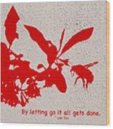 Letting Go  Wood Print