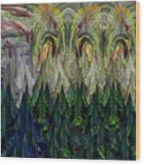 Lettuce Greens Radish Forest Wood Print