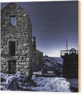 Levant Mine In Blue Wood Print