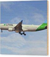 Level Airbus A330-202 Wood Print