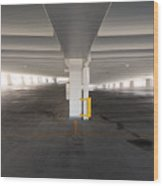 Levels Of A Parking Structure Wood Print