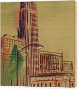 Leveq-lncoln Tower Columbus Ohio Wood Print