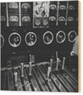 Levers And Gauges Wood Print