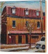 Levine Brothers Plumbers Montreal Wood Print