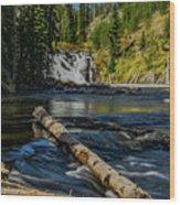 Lewis Falls Wood Print