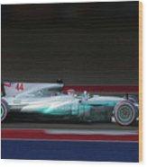 Lewis Hamilton Formula 1 Wood Print