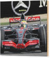 Lewis Hamilton, Mclaren- Mercedes Mp4-22 Wood Print