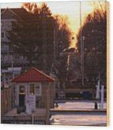 Lexington Harbor Wood Print by Kathy DesJardins