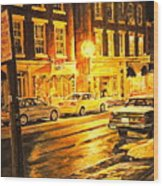 Lexington Street Light Wood Print