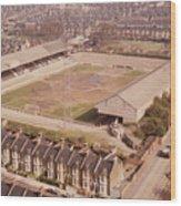 Leyton Orient - Brisbane Road - Aerial View 1 - Looking South East Wood Print