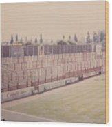 Leyton Orient - Brisbane Road - Buckingham Road Terrace South Goal 1 - August 1986 Wood Print