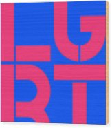 Lgbt Blue And Pink Wood Print