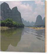 Li River At Xingping Wood Print
