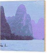 Li River Boaters Wood Print