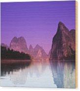 Li River Near Yangshuo Wood Print