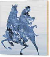 Li Shang-blue Wood Print