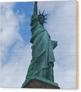 Liberty 2 Wood Print by Lorena Mahoney