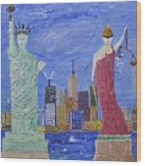 Liberty And Justice  Wood Print