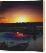 Liberty Bay Sunset Wood Print