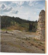 Liberty Cap - Yellowstone Wood Print