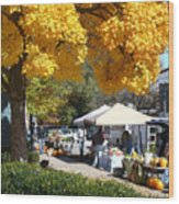 Liberty Farmers Market Wood Print
