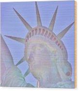 Liberty Glows Wood Print