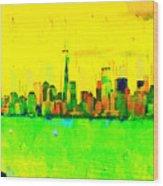 Liberty In New York - Pa Wood Print