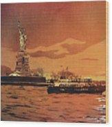 Liberty Island- New York Wood Print