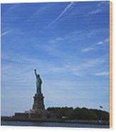Liberty Island Statue Of Liberty Wood Print